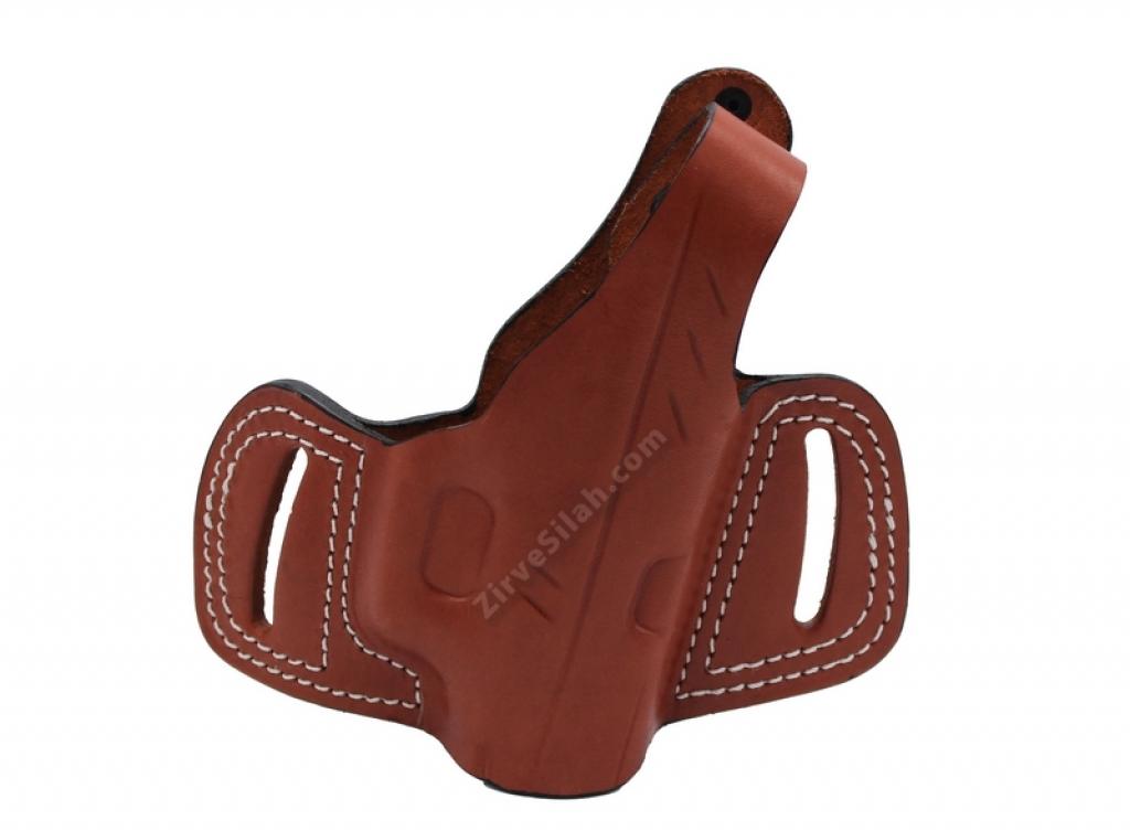 Deri Yarım Kelebek Glock 19 Kahve Silah Kılıfı