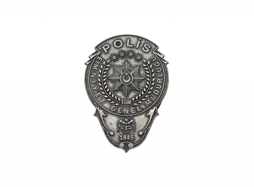 EGM Polis Cüzdan Yapıştırma Metal Rozet