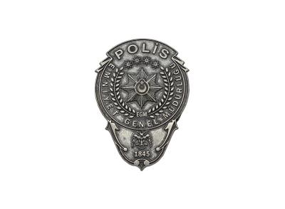 EGM Polis Cüzdan Yapıştırma Metal