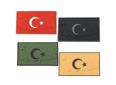 Plastik Patch Harita Türk Bayrağı