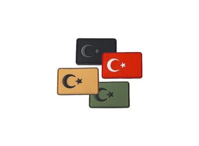Plastik Patch Küçük Türk Bayra