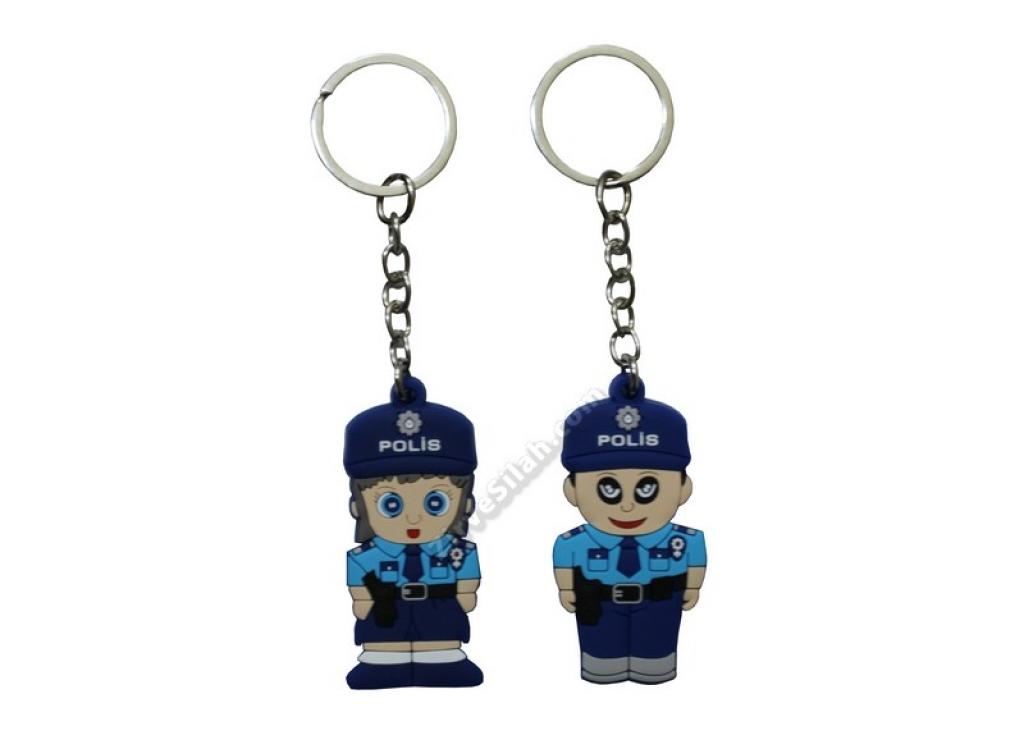Silikon Polis Anahtarlık