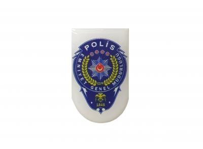 Polis Logolu Şarjör Altı Sticker