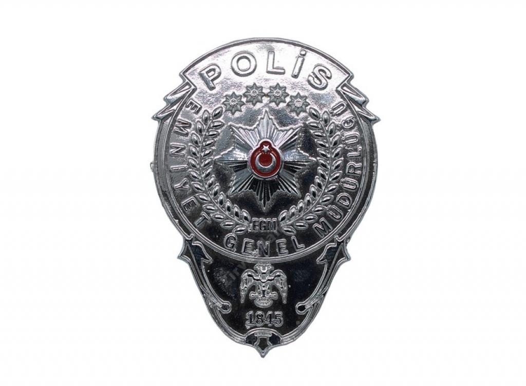 Polis Parlak Yapıştırmalı Cüzdan Rozeti